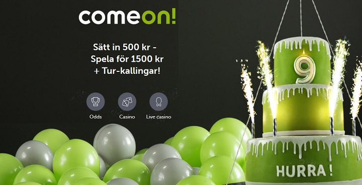 Ny ComeOn bonus och Tur-kallingar