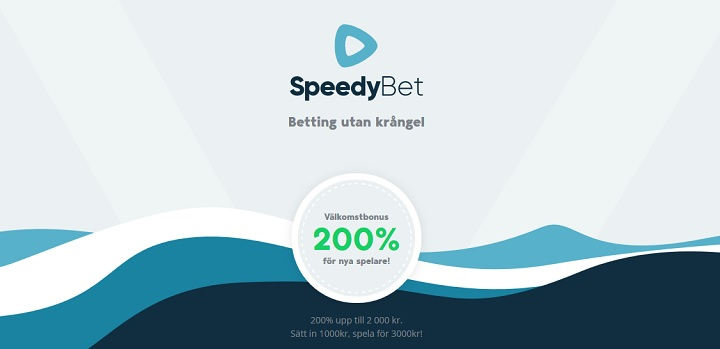 SpeedyBet oddsbonus upp till 2000 kr